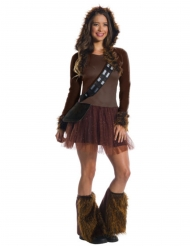 Chewbacca™-Damenkostüm Star Wars™-Lizenz braun
