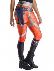 Star Wars™-X-Wing Fighter Leggings für Damen orange-silber-grau