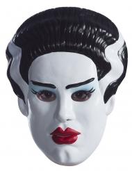 Frankenstein™-Frauen-Maske für Halloween Zubehör weiss-schwarz-rot