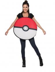 Pokéball™-Kostüm für Erwachsene Lizenz-Verkleidung rot-weiss-schwarz
