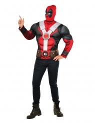 Deadpool™-Muskel-Shirt und Kopfbedeckung Marvel rot-schwarz