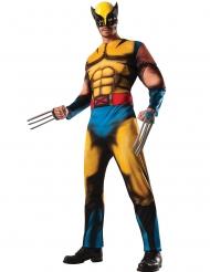 Wolverine™-Comicfigur Herrenkostüm Lizenz X-Man gelb-blau-braun