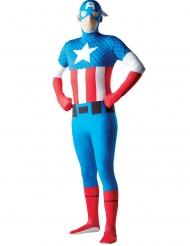 Captain America™-Lizenzkostüm für Herren Comicheld blau-rot-weiss