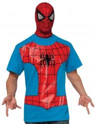 Spiderman™-T-Shirt und Maske Lizenzartikel rot-blau