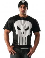 The Punisher™- Shirt und Mütze Kostümzubehör schwarz-weiss