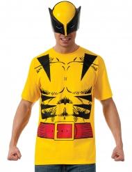 Wolverine™-Lizenz Kostüm-Set für Erwachsene schwarz-gelb-rot