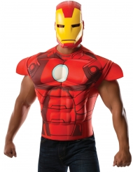 Iron Man™-Kostüm-Set Shirt und Maske Marvel rot-gold