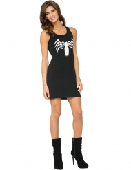 Venom™-Damenkostüm Kleid Marvel™-Lizenz-Verkleidung schwarz-weiss
