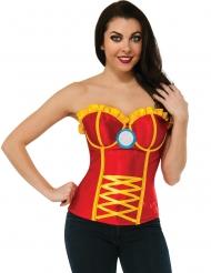 Iron Man™-Damen-Korsage Lizenz rot-gelb-blau