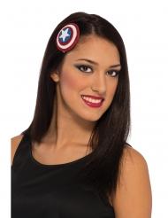Captain America™-Haarschmuck mit Glitzer blau-weiss-rot