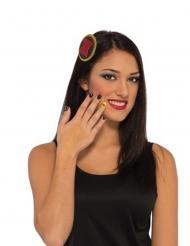 Black Widow™ Accessoire-Set schwarz-rot-gelb
