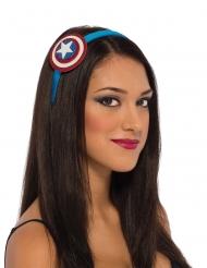 Captain America™-Haarreif für Damen Kostümzubehör blau-rot-weiss