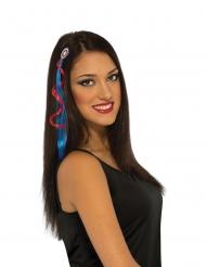 Captain America™-Haar-Extension Kostüm-Accessoire für Damen