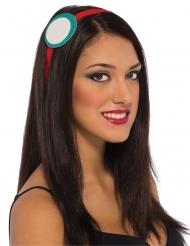 Iron Man™-Haarschmuck für Damen Lizenz türkis-weiss-rot