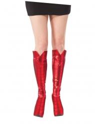 Spidergirl™-Stiefel Kostümzubehör Schuhe für Damen rot