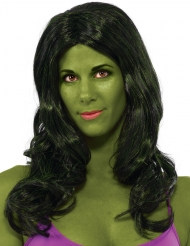 Hulk™-Perücke für Damen Lizenzartikel dunkelgrün