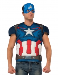 Captain America™-Muskel-Shirt Kostümzubehör blau-weiss-rot