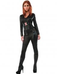 Black Widow™-Damenkostüm Lizenz-Verkleidung schwarz