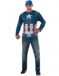 Captain America™-Oberteil und Maske Civil War™ blau-rot-weiss
