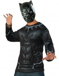 Black Panther™-Oberteil und Maske Kostüm-Set Erwachsene schwarz