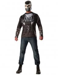 Crossbones™-Kostüm T-Shirt & Maske für Herren schwarz-grau