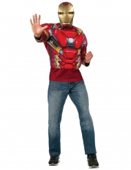 Iron Man™-Muskel Shirt Captain America Civil War™ rot-gold