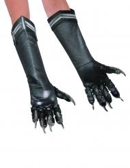 Black Panther™-Handschuhe Lizenz-Kostümzubehör schwarz