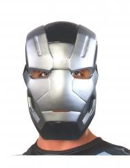 War Machine™-Maske Superhelden-Accessoire silber-schwarz