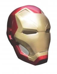 Iron Man™-Vollmaske Kostüm-Accessoire für Herren rot-gold