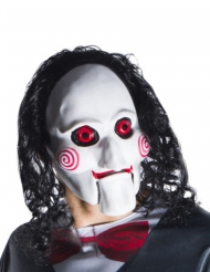 SAW™-Lizenzmaske Jigsaw Kostümzubehör schwarz-weiss-rot