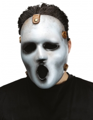 Serienkiller-Maske Screamy Joe™ Halloween-Accessoire grau-schwarz