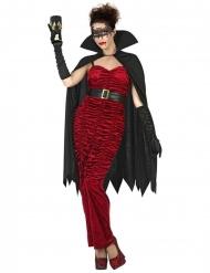 Vampirin-Damenkostüm Gräfin Halloween schwarz-rot