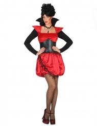 Verführerisches Vampir-Damenkostüm für Halloween schwarz-rot