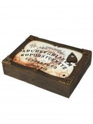 Ouija-Spielbrett animiert Halloween braun-weiss 31x22cm