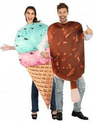 Leckeres Eis-Paarkostüm für Erwachsene Sommer bunt