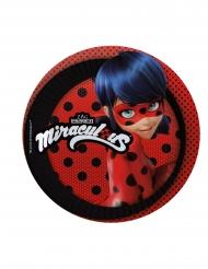 Ladybug™-Pappteller Tischdekoration für Kinder Lizenz 8 Stück rot-schwarz-blau 19cm