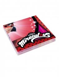 Ladybug™-Papierservietten Partyzubehör 20 Stück rot 33 x 33cm