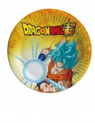 Dragon Ball Super™-Pappteller Kindergeburtstag 8 Stück bunt 18cm