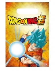Dragon Ball Super™-Kunststoff-Taschen für Kinder 6 Stück bunt 23x16cm