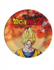 Dragon Ball Z™-Pappteller Tischzubehör 8 Stück bunt 18cm