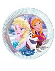 Frozen™-Pappteller Tischzubehör für Mädchen 8 Stück bunt 23cm