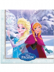 Frozen™-Tisch-Servietten Kindergeburtstag 20 Stück bunt 33x33cm