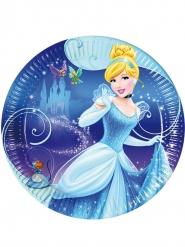 Cinderella™-Pappteller Tischzubehör Kindergeburtstag 8 Stück blau 23cm