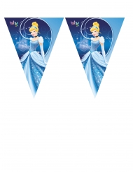 Disney Cinderella™-Wimpelgirlande Partydeko blau 3,6m