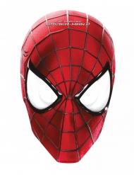 Spider-Man™-Masken Set aus Pappkarton 6 Stück rot-schwarz