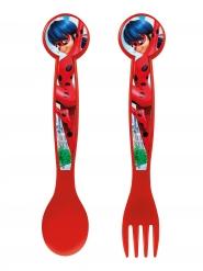 Ladybug™-Besteck für Kinder Tischzubehör rot-blau 16cm