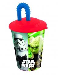 Star Wars™-Trinkbecher mit Strohhalm Lizenzartikel bunt 400ml
