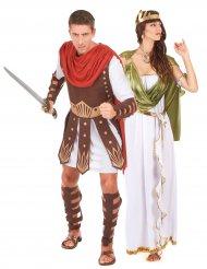 Antikes-Paarkostüm Gladiatoren-Krieger bunt