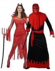 Teufel und Dämonen Paarkostüm Halloween schwarz-rot