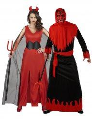 Teufel-Verkleidungen Paarkostüme Halloween schwarz-rot